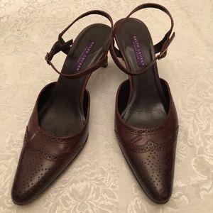 Ralph Lauren brown heels